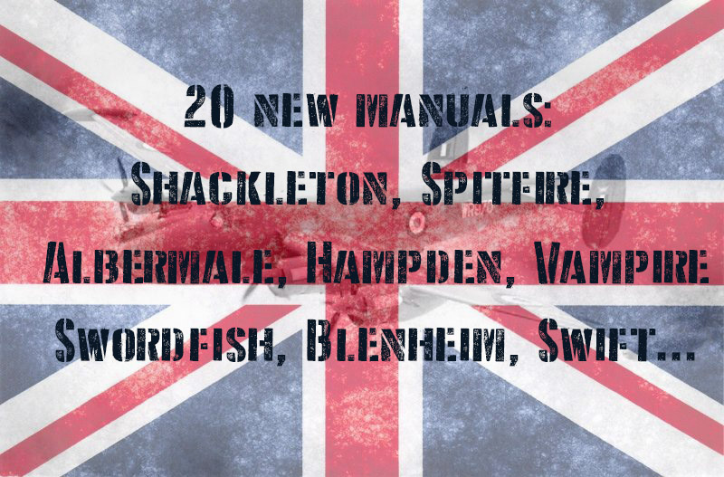 20 new manuals for British aircraft