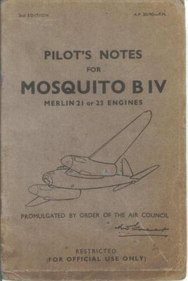 Pilot's Notes Mosquito BIV