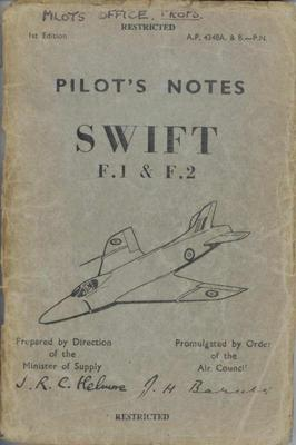 Pilot's Notes Swift F1 & F2