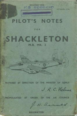 Pilot's Notes Shackleton