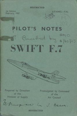 Pilot's Notes Swift F7