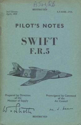 Pilot's Notes Swift FR5