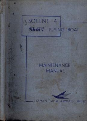 Short Solent 4 Maintenance manual
