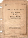 T.O. 01-20EE-4 Airplane parts Catalog B-17E - Fortress IIA