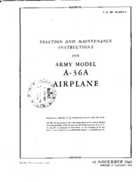 TO No 01-60HB-2 Erection and maintenance instructions for the A-36A Airplane