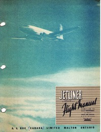 C-102 Jetliner Flight Manual for first prototype CF-EJD-X