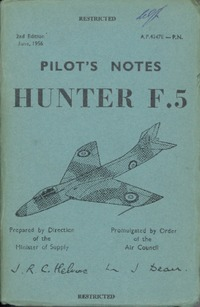 A.P.4347E Pilot's  Notes Hunter F.5
