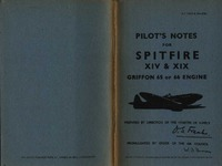Pilot's Notes for Spitfire XIV & XIX Griffon 65 or 66 engine