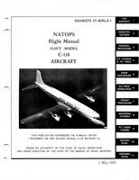 Navweps 01-40NLA-1 Natops Flight Manuals C-118 Aircraft