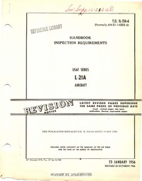 T.O. 1L-21A-6 Handbook Inspection requirements L-21A aircraft