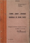 AP 2893A Volume III part 1 Kirby Cadet Aircraft - Schedule of pare parts