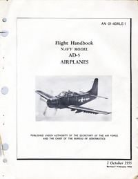 AN 01-40ALE-1 Flight Handbook AD-5 Airplanes