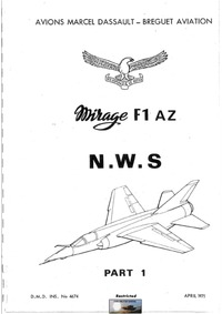 DMD INS. No 4674 - Mirage F1 AZ N.W.S - part 1