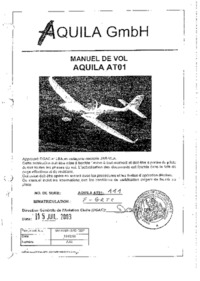 1982 Manuel de vol Aquila AT01