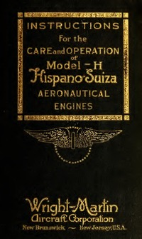 Instructions for the care and operation of model 6H Hispano Suiza