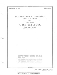 AN 01-40AJ-2 Erection and Maintenance Instructions for A-26B and A-26C Airplanes
