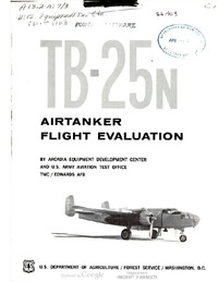 TB-25N Airtanker Flight Evaluation
