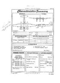 B-26B Invader Characteristics Summary - 11 July 1952