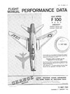 T.O. 1F-100A-1-1 Flight Manual Performance Data F-100 A C D F Aircraft