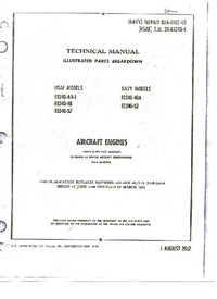 Navair 02A-10DC-4B Technical Manual - Illustrated Parts Breakdown - R-1340 Aircraft Engines