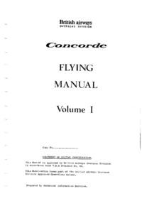 Concorde Flight Manual volume 1