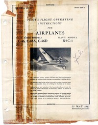 AN 01-25LA-1 Pilot's Flight Operating Instructions for C-46, C-46A, C-46D and Navy Model R5C-1