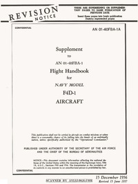 AN 01-40FBA-1A Supplement to Flight Handbook F4D-1 Skyray Aircraft
