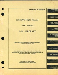 NAVWEPS 01-60ABA-1 - Flight Manual A-5A Aircraft