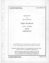 CO 01-85FGF-1A Supplement to AN 01-85FGF-1 Flight Handbook F9F-8 Aircraft