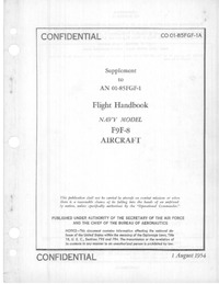 CO 01-85FGF-1A Supplement to AN 01-85FGF-1 Flight Handbook F9F-8 Aircraft