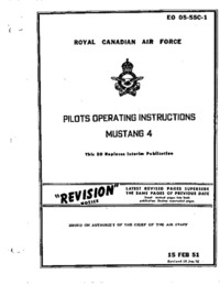 EO 05-55C-1 Royal Canadian Air Force Pilots operating instructions Mustang 4