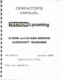 Operator's Manual Textron Lycoming O-235