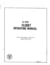 CL-44D4 Flight Operating Manual - Vol IV