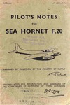 A.P. 4037A -PN - Pilot's Notes for Sea Hornet F.20