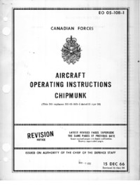 EO -5-10B-1 Aircraft Operating Instructions Chipmunk