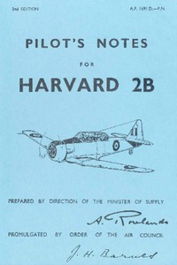 A.P. 1691 D. Pilot's Notes for Harvard 2B - 2nd edition