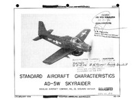 AD-5W Skyraider Standard Aircraft Characteristics - 1 February 1956