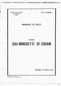 1T-SF260AM-1 Manuale di volo SIAI-Marchetti SF-260AM