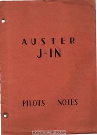 Auster J-1N Pilots notes