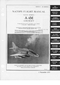 Navair 01-40AVM-1 Natops Flight Manual A-4M Aircraft