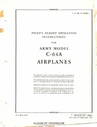 T.O. 01-155CB-1 Pilot's Flight Operating Instructions for C-64A Airplanes