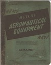 Army - Navy - Index of Aeronautical equipment volume 5 - Armament