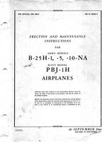 AN 01-60GD-2 Erection and maintenance instructions for B-25H-1,-5,-10 , PBJ-1H Airplanes
