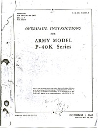 T.O. 01-25CK-3 Overhaul Instructions for Army Model P-40K series