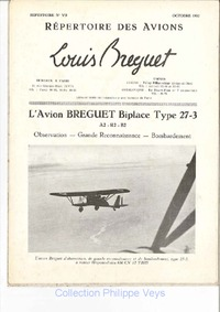 L'avion Breguet Biplace Type 27-3