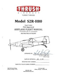 Turbo Thrush Model S2R-H80 Airplane Flight Manual