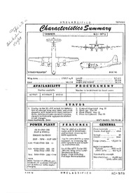 2838 KC-97G Stratofreighter Characteristics Summary - 9 March 1956 (Yip)