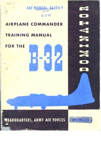Airplane Commander Training Manual for the B-32 Dominator