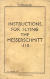 2203 Instructions for flying the Messerschmitt 110