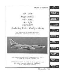 Navair 01-40ATA-1 Natops Flight Manual A-3 A/B Aircraft